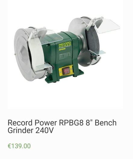 record power bench grinder 8 record power bench grinder for sale in tullow carlow