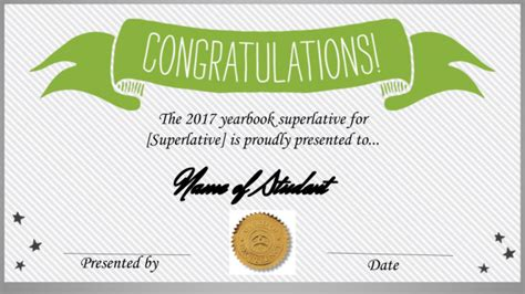 Superlative Award Template