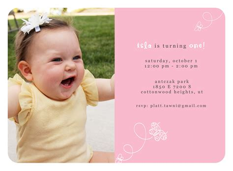 1st birthday invitation template quotes for 1st birthday invitations quotesgram