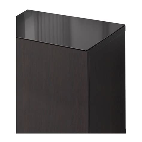 Best 197 Top Panel Glass Black 60x40 Cm Ikea