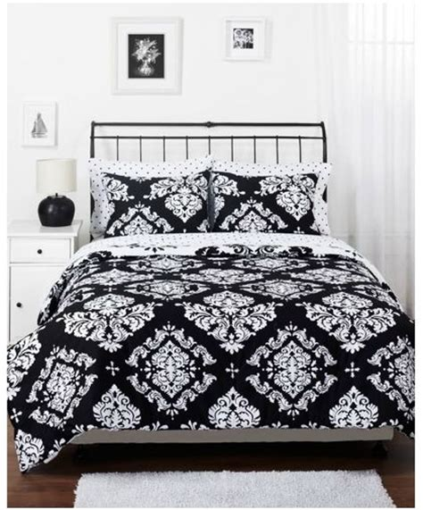 walmart bedroom comforter sets get the black and white noir comforter set from walmart