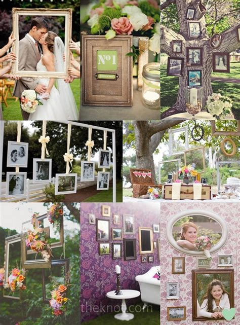 Decorating Ideas For Picture Frames Picture Frame Wedding Decorations The Wedding Community