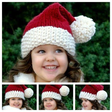 free crochet santa hat for children wonderful diy crochet ornaments with free pattern