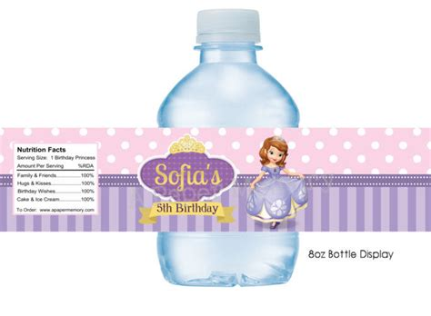 sofia the water bottle labels sofia the water bottle labels diy printable