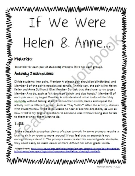helen keller biography activities pin by heather butler fox on helen keller unit pinterest