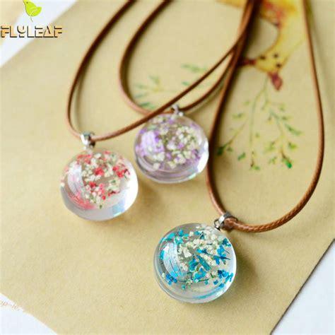 epoxy jewelry flyleaf handmade epoxy dried flowers necklaces