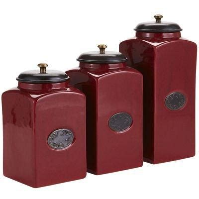 Burgundy Kitchen Canisters by Red Ceramic Canisters From Pier 1 Imports