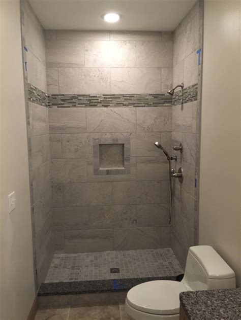 12x24 tile shower 12x24 grey wall tiles shower niche 2x2 mosaic floor
