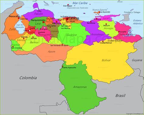 imagenes de venezuela en el mapa mapa de venezuela annamapa com
