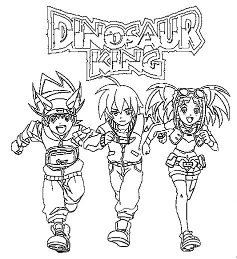 coloring page dinosaur king 1