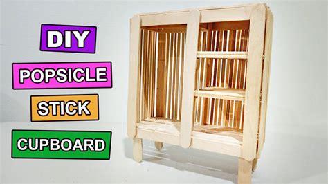 popsicle stick crafts    miniature cupboard