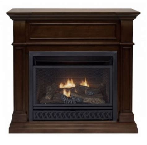 Are Ventless Gas Fireplaces Safe by Procom Walnut Ventless Gas Fireplace Dual Use Surround