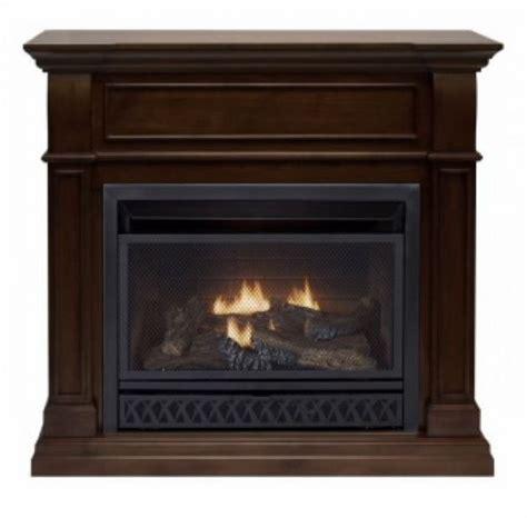 Gas Fireplace Thermostat by Procom Walnut Ventless Gas Fireplace Dual Use Surround