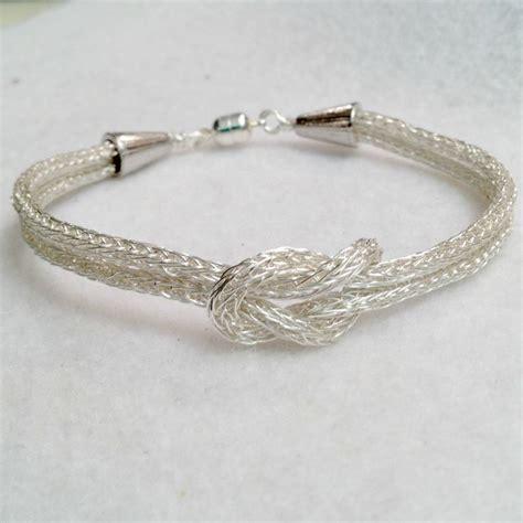 viking knit jewelry viking knit silver knot bracelet