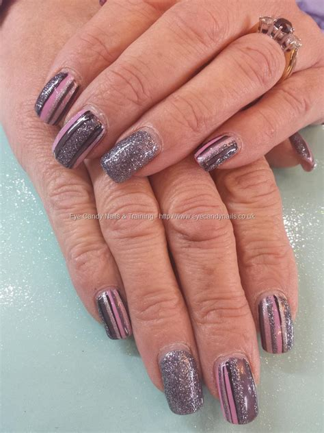 glitter audi pink and silver glitter fade with swarovski crystals