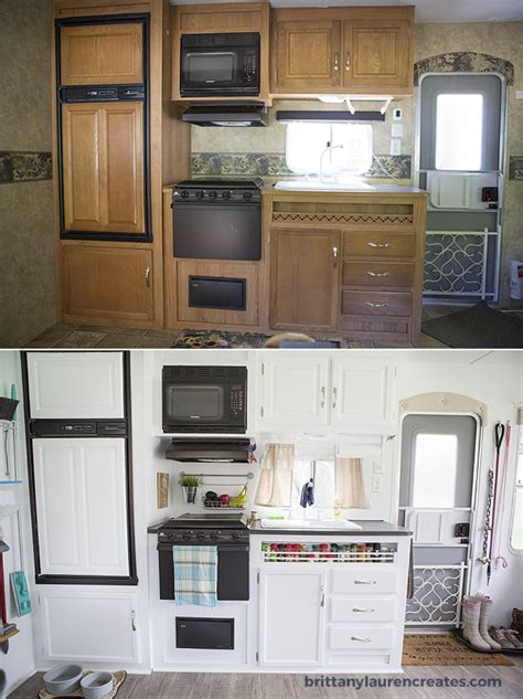 Rv Bathroom Remodeling Ideas by Before Amp After Gorgeous Diy Camper Renovation
