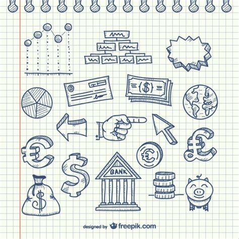 Business Doodle Pack Vector Free