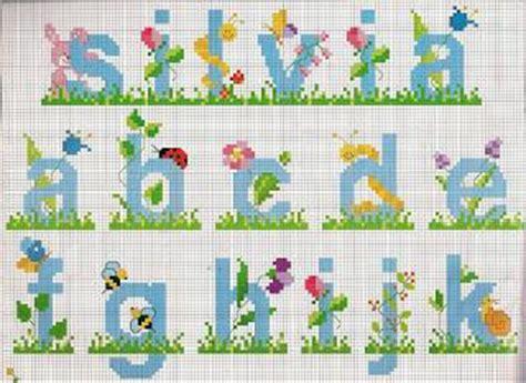 lettere punto croce bambini schemi alfabeti a punto croce per bambini paperblog