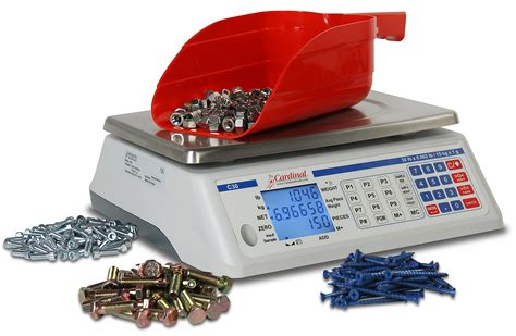 cardinal digital counting scale w rechargeable battery 30 lb c30 new c series portable counting scales