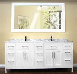 Avola 78 inch double sink bathroom vanity set white finish