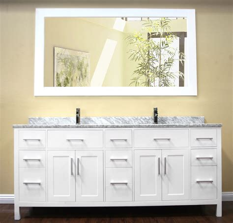Bathroom Vanity Storage Ideas by Avola 78 Inch Double Sink Bathroom Vanity Set White Finish