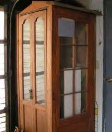 door projects a phone booth from reclaimed doors wow there are