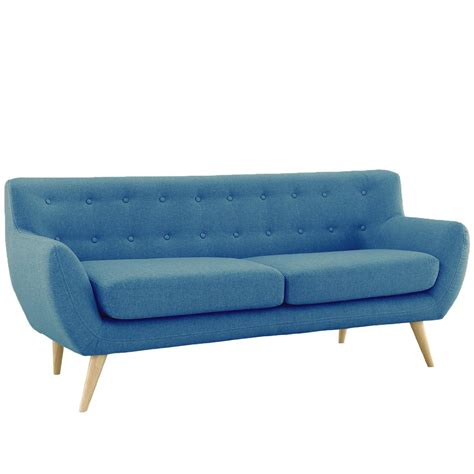modern blue couch furniture mid century modern sofa couch picked vintage