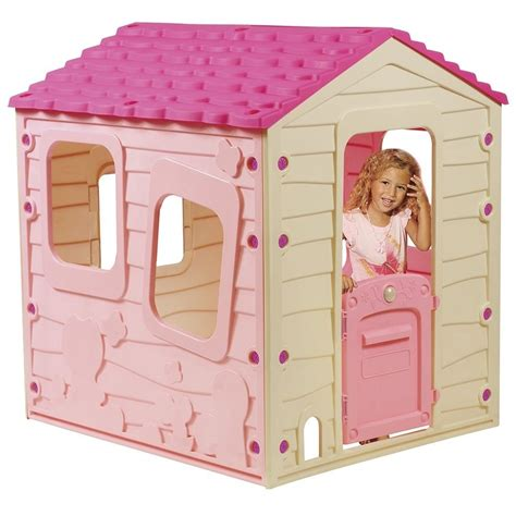 Plastic For Pink childrens playhouse garden play house