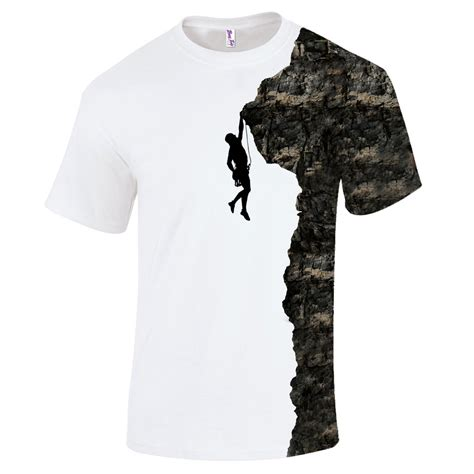 Tshirtt Shirtkaos Rock Climbing all print rock climber graphic t shirt silhouette rock