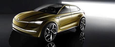 e visio skoda vision e concept reveals electric future for marque