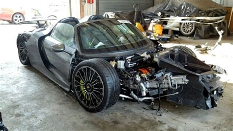 porsche 918 crash porsche 918 crashed at 92 miles on copart