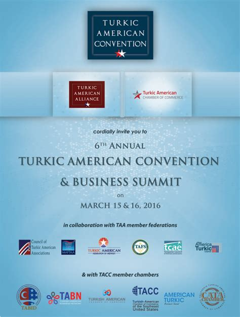 save the date 6th annual turkic american convention