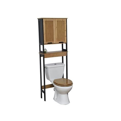 Armoire Dessus Toilette by Meuble Dessus Toilettes Wc En Bambou Noir Et Bois Noir