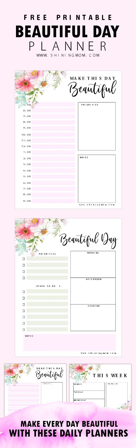 free printable daily planner for moms free printable daily planner beautiful pages