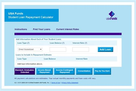 loan tracking excel spreadsheet student loan repayment calculator