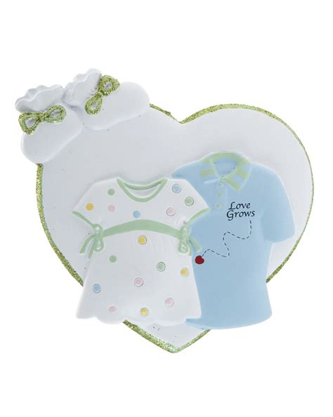 expecting couple christmas ornament baby