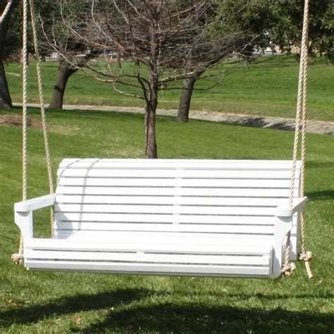 6 porch swing tmp outdoor furniture countoured classic white front porch