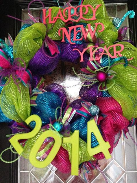 New Year New Hangers by On Sale 2014 Happy New Year Deco Poly Mesh Wreath Door