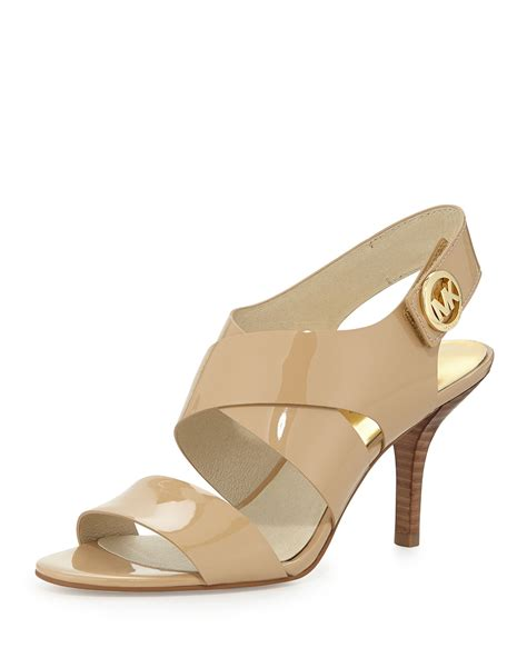 michael kors patent leather sandals michael michael kors joselle patent leather sandal in