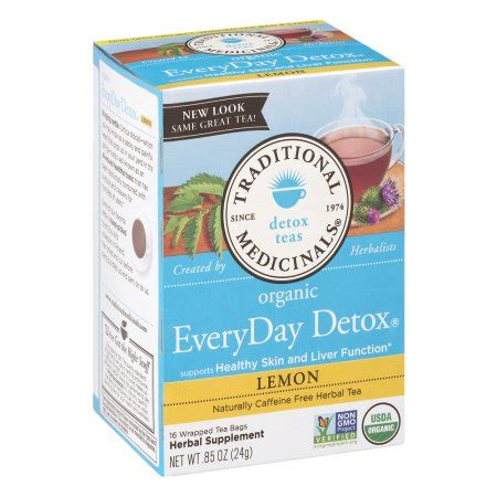 Detox Tea Everyday by Traditional Medicinals Organic Everyday Detox Herbal Tea