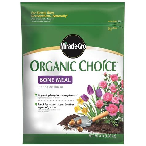 miracle gro organic choice 3 lb bone meal fertilizer