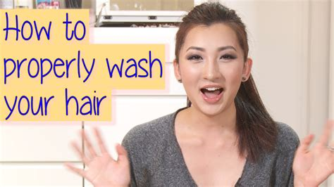 how to wash your hair in the how to properly wash your hair correct way youtube