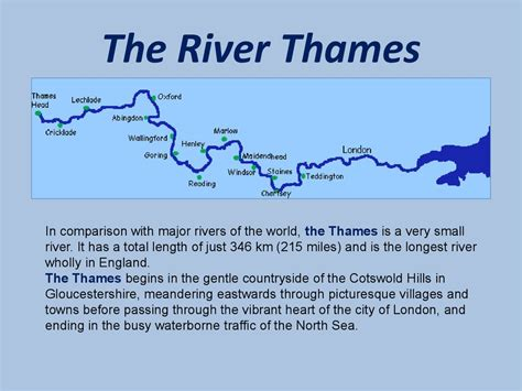 river thames journey from source to mouth the river thames презентация онлайн