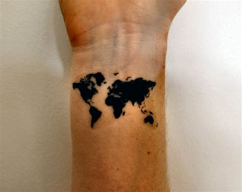 world tattoo on wrist 32 map tattoos on wrists