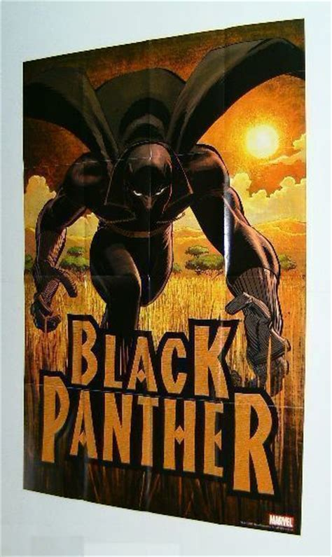 marvel black panther comic book promo poster romita jr