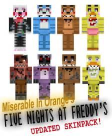 My fnaf skinpack by miserable in orange on deviantart