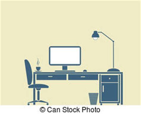 Computer Desk Clipart Computer Desk Vector Clip Royalty Free 15 445 Computer Desk Clipart Vector Eps