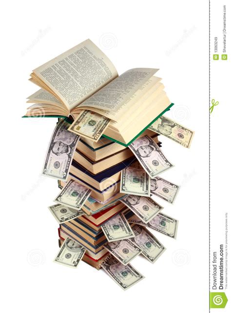the of money books book and money stock image image of education