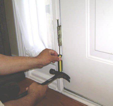 how to fix a sagging door