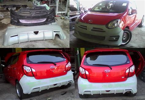Bemper Mobil Agya bumper custom ayla agya noblesse style auto bodykit mobil